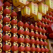 Red lanterns decorating the Chinese New Year — Stock Photo #18995023