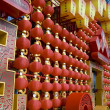 Red lanterns decorating the Chinese New Year — Stock Photo