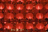 Rode lantaarns nachts voor chinees nieuwjaar — Stockfoto