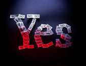 Yes means No — Stock Photo