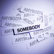 Be Somebody — Stock Photo