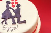 Cake for Engaged  — Stock Photo