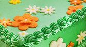 Green Field Cake — Stock Photo