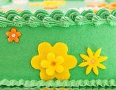 зеленое поле торт — Стоковое фото