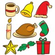 Set of Christmas icons — Stock Vector #12092592