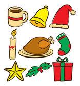 Av julen ikoner — Stockvektor