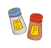 Salt och peppar cartoon — Stockvektor