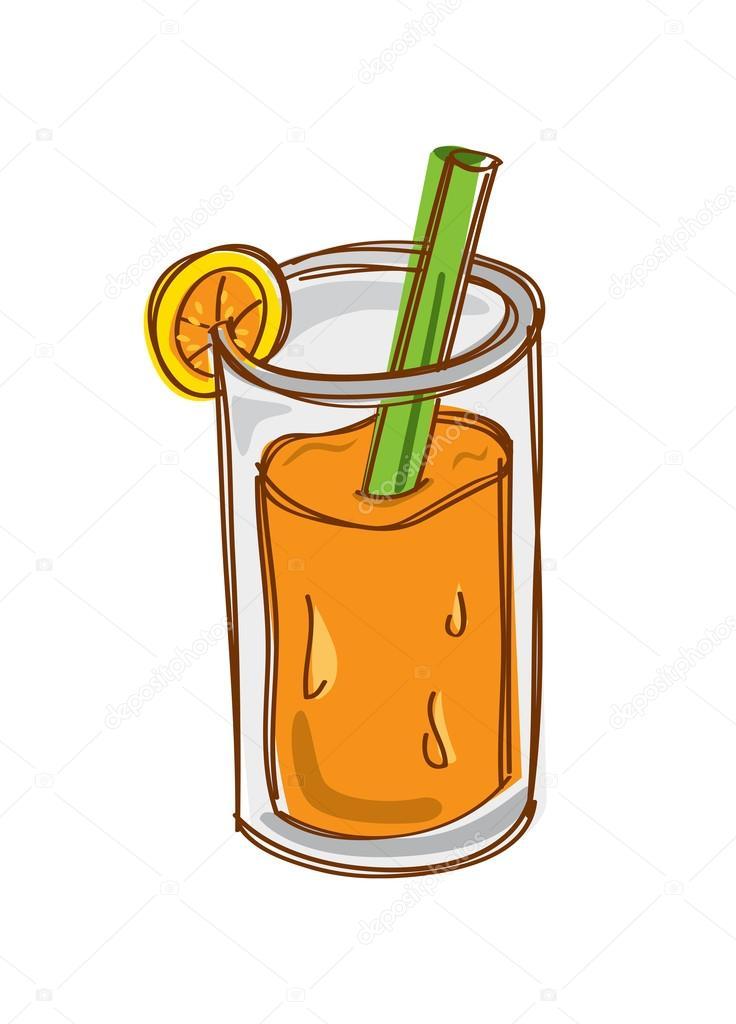Orange Juice Cartoon Orange Juice Cartoon Vector