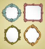 Vintage frame doodle — Stock Vector