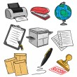 Office equipment — Stock Vector