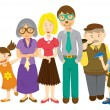 Family cartoon - Stock Vector