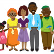 African American family — Stock Vector