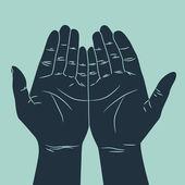 Human hand gesture — Stock Vector