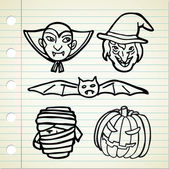 Halloween cartoon — Stockvector
