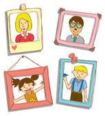 Family portrait — Stock Vector