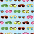 Stock Vector: Retro sunglasses seamless pattern