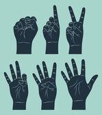 Contando com a mão — Vetorial Stock