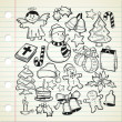 Set of Christmas decoration in doodle style — Stock Vector #12651513