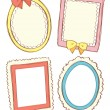 Set of cute frame in doodle style — Stock Vector #12669211