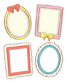 Set of cute frame in doodle style — Stock Vector