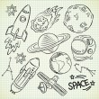 Space doodle set — Stock Vector