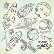 Space doodle set — Stock Vector #13289700