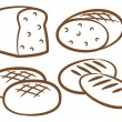Various bread set — Stock Vector