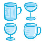 Various glass set — Stock Vector