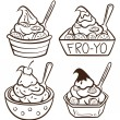 Vector de stock : Cup of frozen yogurt
