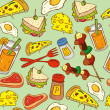 Food seamless pattern suitable for wrapping paper — Stock Vector