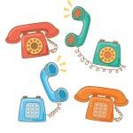 Ретро телефон — Cтоковый вектор