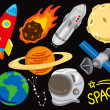Space doodle set — Stock Vector #13857923