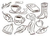 Autumn doodle — Stock Vector