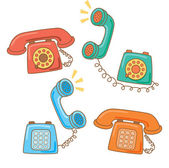 Vintage telephone — Stock Vector