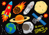 Space doodle set — Vector de stock