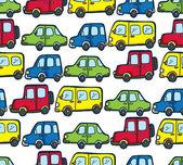 Cartoon car seamless pattern — Stock Vector