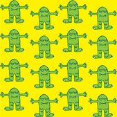 Cute monster pattern — Stock Vector