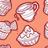Dessert seamless pattern — Stock Vector