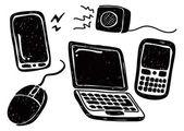 Doodle gadget — Vettoriale Stock