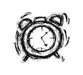 Sketchy clock in doodle style — Vetorial Stock