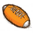 Grunge rugby ball — Stock Vector
