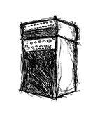 Grungy amplifier — Stock Vector