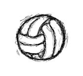 Volley ball isolated on white background — Stock Vector