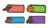 Etiqueta lindo Halloween en estilo doodle — Vector de stock