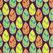 Schönes Blatt Muster — Stockvektor