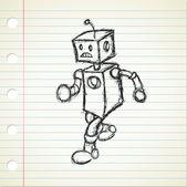 Robot doodle — Stock Vector