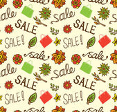 Vintage sale seamless pattern — Stock Vector
