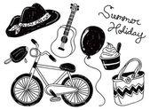暑假涂鸦 — 图库矢量图片