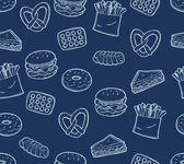Snack food background — Stock Vector