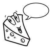 Cartoon cheese with bubble speech — Stock Vector